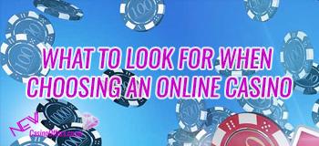 choosing online casino